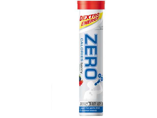 Dextro Energy Zero Calories Electrolyte Tabs 20 Pieces, Berry